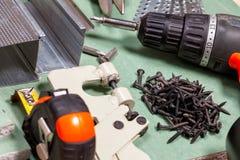 Σύνολο εργαλείων ξηρών τοίχων Στοκ εικόνα με δικαίωμα ελεύθερης χρήσης