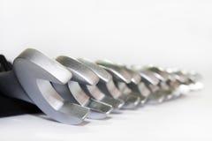 Σύνολο εργαλείων χεριών μετάλλων Στοκ εικόνες με δικαίωμα ελεύθερης χρήσης