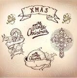 Σύνολο δερματοστιξιών Χριστουγέννων Στοκ φωτογραφία με δικαίωμα ελεύθερης χρήσης