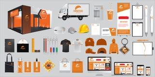 Σύνολο εταιρικών στοιχείων ταυτότητας και χαρτικών Διανυσματικά προωθητικά αντικείμενα Στοκ εικόνα με δικαίωμα ελεύθερης χρήσης