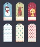 Σύνολο ετικεττών δώρων Χριστουγέννων Στοκ Φωτογραφία