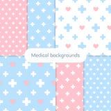 Σύνολο ευγενών ιατρικών υποβάθρων Στοκ Εικόνες