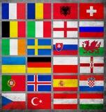 Σύνολο ευρο- 2016 ομάδων Στοκ εικόνες με δικαίωμα ελεύθερης χρήσης