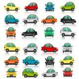 Σύνολο δευτερεύουσας και μπροστινής άποψης αυτοκινήτων Στοκ Φωτογραφία