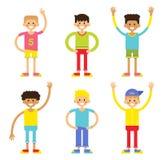 Σύνολο εύθυμων αγοριών παιδιών Στοκ φωτογραφία με δικαίωμα ελεύθερης χρήσης