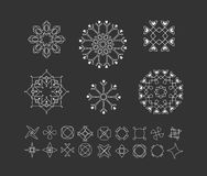 Σύνολο ελάχιστων γεωμετρικών μορφών Στοκ Φωτογραφίες