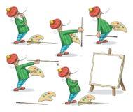 Σύνολο ζωγράφων καλλιτεχνών Στοκ Εικόνες