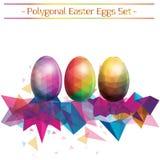 Σύνολο ζωηρόχρωμης διανυσματικής απεικόνισης αυγών εστέρα Στοκ Εικόνα