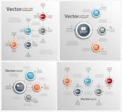 Σύνολο ζωηρόχρωμου αφηρημένου σχεδίου Infographic Στοκ Εικόνες