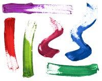 Σύνολο ζωηρόχρωμων κτυπημάτων της στιλβωτικής ουσίας χρωμάτων ή καρφιών στο λευκό Στοκ φωτογραφία με δικαίωμα ελεύθερης χρήσης