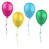 Σύνολο ζωηρόχρωμων ρεαλιστικών μπαλονιών διανυσματική απεικόνιση