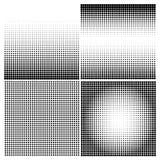 Σύνολο ημίτοών υποβάθρων μαύρο χρώμα Στοκ Φωτογραφία