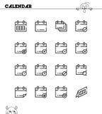 Σύνολο ημερολογιακών εικονιδίων Στοκ Εικόνες