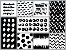 Σύνολο δημιουργικών καρτών με τους λεκέδες και τις κακογραφίες Στοκ εικόνες με δικαίωμα ελεύθερης χρήσης
