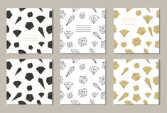 Σύνολο 3 δημιουργικών καλύψεων ή καθολικών καρτών Στοκ Εικόνα