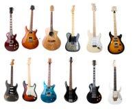 Σύνολο ηλεκτρικών κιθάρων Στοκ εικόνα με δικαίωμα ελεύθερης χρήσης