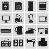 Σύνολο ηλεκτρονικών εγχώριων συσκευών Στοκ φωτογραφία με δικαίωμα ελεύθερης χρήσης
