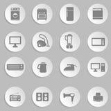 Σύνολο ηλεκτρονικών εγχώριων συσκευών Στοκ φωτογραφίες με δικαίωμα ελεύθερης χρήσης