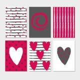 Σύνολο θερινών συρμένο χέρι καλλιγραφικό καρτών Διανυσματικές θερινές κάρτες συλλογής ελεύθερη απεικόνιση δικαιώματος