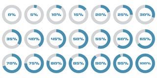 Σύνολο διαγραμμάτων ποσοστού κύκλων για το infographics Στοκ Εικόνα
