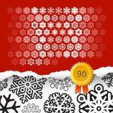 Σύνολο 90 διανυσματικά snowflakes Στοκ φωτογραφία με δικαίωμα ελεύθερης χρήσης