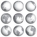 Σύνολο διανυσματικής απεικόνισης εικονιδίων σφαιρών Στοκ εικόνες με δικαίωμα ελεύθερης χρήσης