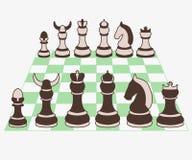 Σύνολο διανυσματικής απεικόνισης κομματιών σκακιού Στοκ Εικόνες