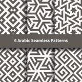 Σύνολο διανυσματικής αραβικής γεωμετρικής σύστασης Στοκ Εικόνα