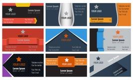Σύνολο διανυσματικής αφηρημένης δημιουργικής εταιρικής συλλογής επαγγελματικών καρτών Στοκ εικόνα με δικαίωμα ελεύθερης χρήσης