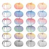 Σύνολο διανυσματικής κολοκύθας Doodle, διανυσματικό στοιχείο για Στοκ Εικόνες
