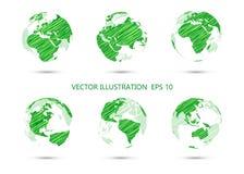 Σύνολο διανυσματικής σφαίρας σχεδίων μελανιού Στοκ εικόνα με δικαίωμα ελεύθερης χρήσης