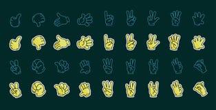 Σύνολο διανυσματικού σχεδίου χεριών Στοκ εικόνα με δικαίωμα ελεύθερης χρήσης