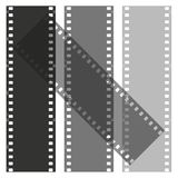 Σύνολο διανυσματικού υποβάθρου σχεδίων ταινιών Στοκ Φωτογραφίες