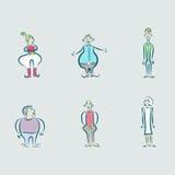 Σύνολο διανυσματικών απεικονίσεων των ανθρώπων ανάπηρων Ελεύθερη απεικόνιση δικαιώματος