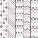Σύνολο διανυσματικών γεωμετρικών άνευ ραφής σχεδίων Στοκ εικόνα με δικαίωμα ελεύθερης χρήσης