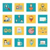 Σύνολο διανυσματικών εικονιδίων γραφείων και επιχειρήσεων διανυσματική απεικόνιση