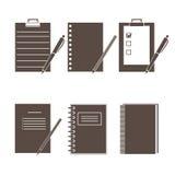 Σύνολο διανυσματικών εικονιδίων των προμηθειών γραφείων απεικόνιση αποθεμάτων