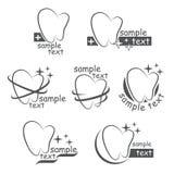 Σύνολο διανυσματικών εικονιδίων δόντια Στοκ Φωτογραφίες