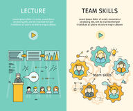 Σύνολο διανυσματικών εμβλημάτων Ιστού επιχειρησιακής εκπαίδευσης Στοκ Εικόνες