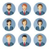 Σύνολο διανυσματικών επιχειρησιακών χαρακτήρων στο επίπεδο σχέδιο Στοκ Εικόνα