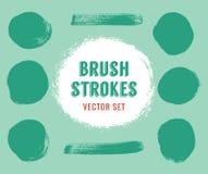 Σύνολο διανυσματικών κτυπημάτων βουρτσών Το χρώμα είναι editable Στοκ Εικόνα