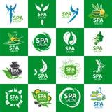 Σύνολο διανυσματικών λογότυπων για το σαλόνι SPA Στοκ Εικόνες