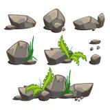 Σύνολο διανυσματικών πετρών διανυσματική απεικόνιση
