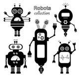 Σύνολο διανυσματικών ρομπότ στο ύφος κινούμενων σχεδίων Στοκ φωτογραφίες με δικαίωμα ελεύθερης χρήσης
