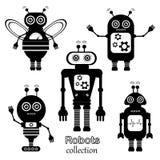 Σύνολο διανυσματικών ρομπότ στο ύφος κινούμενων σχεδίων Στοκ Εικόνες
