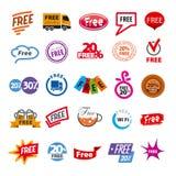 σύνολο διανυσματικών στοιχείων λογότυπων ελεύθερων Στοκ εικόνα με δικαίωμα ελεύθερης χρήσης