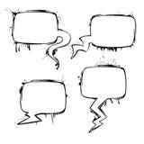 Σύνολο διανυσματικών φυσαλίδων μελανιού συνομιλίας grunge Στοκ Φωτογραφία