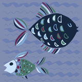 Σύνολο διανυσματικών ψαριών Στοκ Φωτογραφίες