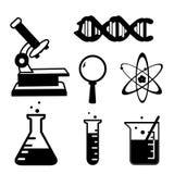 Σύνολο διανύσματος εικονιδίων κινούμενων σχεδίων εργαστηρίων εικονιδίων ουσίας επιστήμης Στοκ Εικόνα