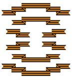 Σύνολο διανύσματος κορδελλών του ST George απεικόνιση αποθεμάτων